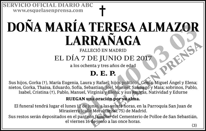 María Teresa Almazor Larrañaga